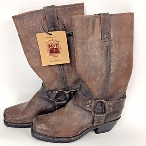 Frye Harness Boots 150th Anniversary Distressed